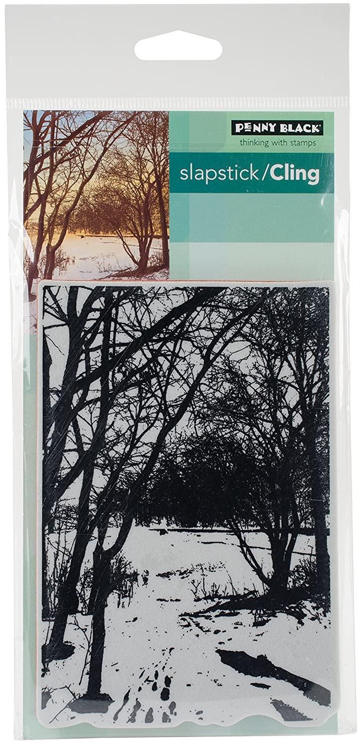 Penny Black Wintry Trail Cling Stamps, 5X7 5X7 40-497