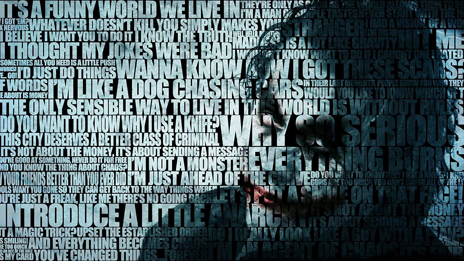 BATMAN QUOTES THE JOKER TYPOGRAPHIC PORTRAIT TYPOGRAPHY WALLPAPER ON FINE ART PAPER HD QUALITY WALLPAPER POSTER