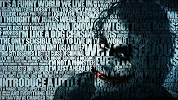Batman Quotes The Joker Typographic Portrait Fine Art Hd Wallpaper Poster Paper Multicolour Amazon In Home Kitchen