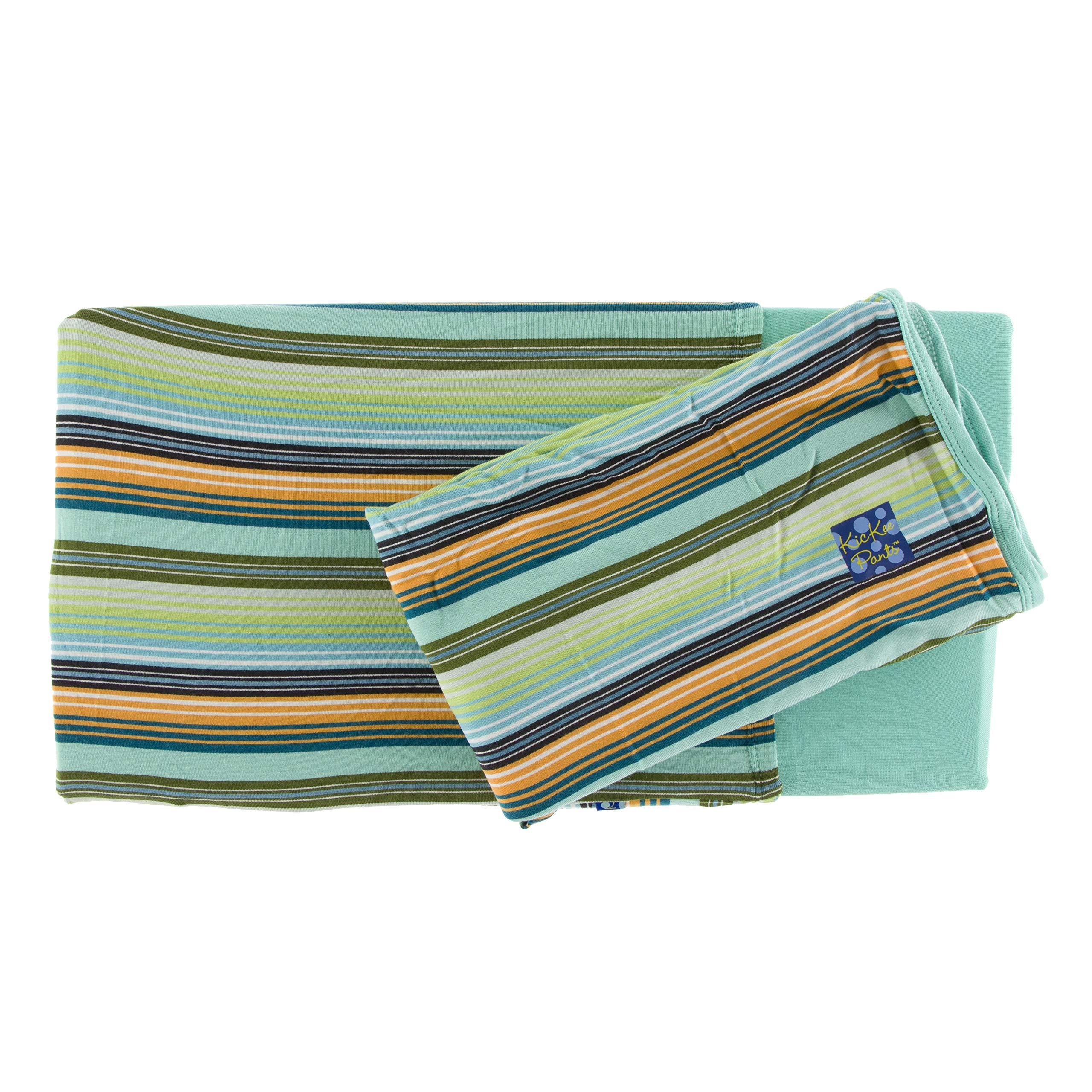Kickee Pants Print Twin Sheet Set (Cancun Glass Stripe - One Size)