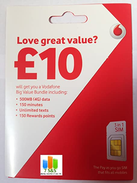 Vodafone 3 G/4G Multi tarjeta SIM Pay as you go para iphone ...