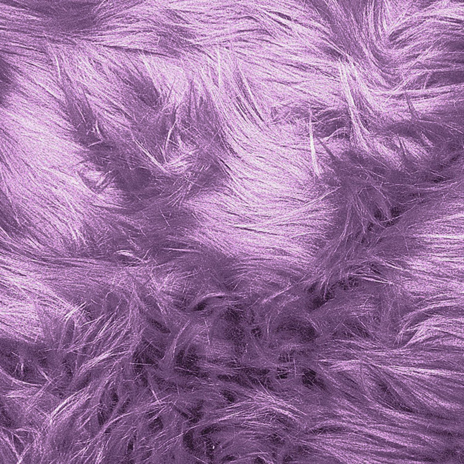 The Fabric Exchange Luxury Shag Fabric by the Yard Lavender
