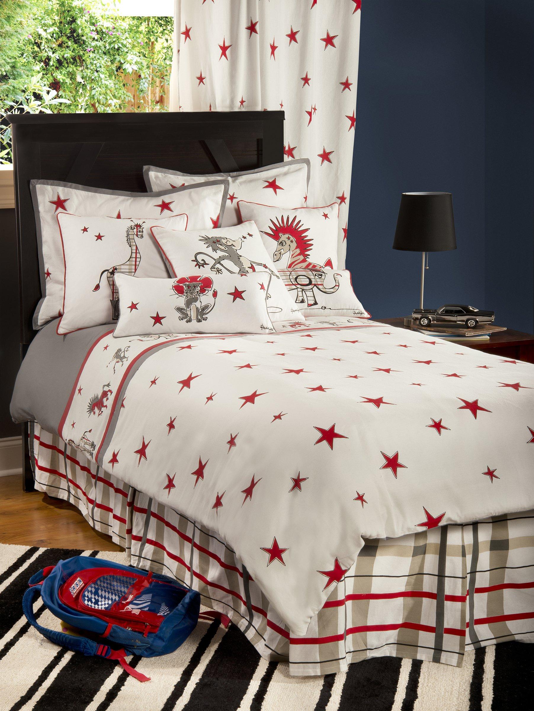 Rizzy Home Boys Punk Animal Stars 3-Piece Comforter Set, Full