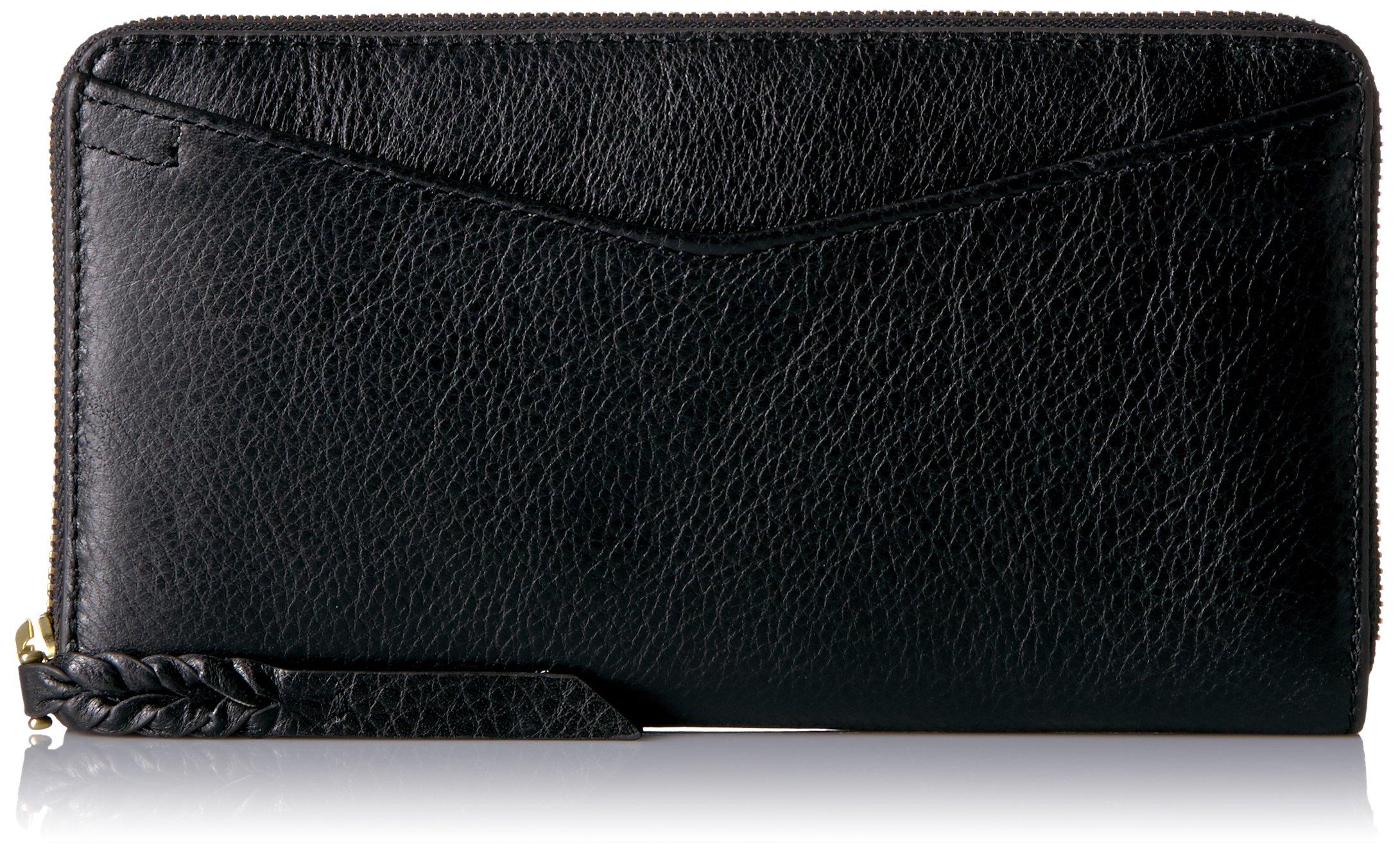 Caroline Rfid Zip Wallet - Black Wallet, Black, One Size by Fossil