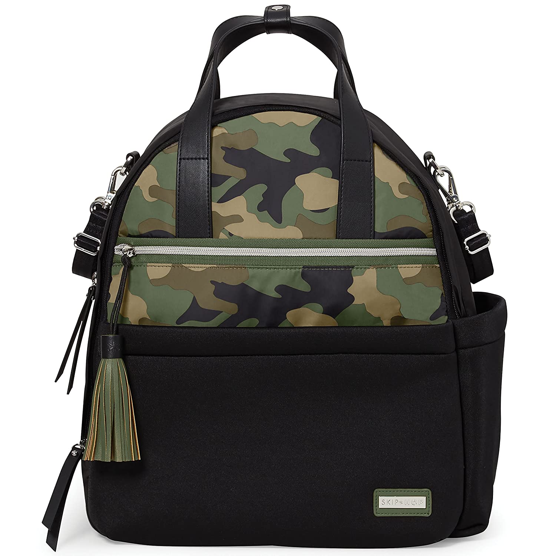 6b9289b91135d Amazon.com: Skip Hop Diaper Bag Backpack with Matching Changing Pad, Nolita  Neoprene, Black/Camo: Baby