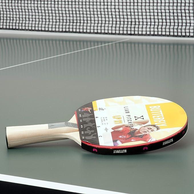 Butterfly Unisex 1 Liam Pitchford LPX 1 Raqueta de Tenis de Mesa, Color Negro/Rojo, tamaño Completo: Amazon.es: Deportes y aire libre