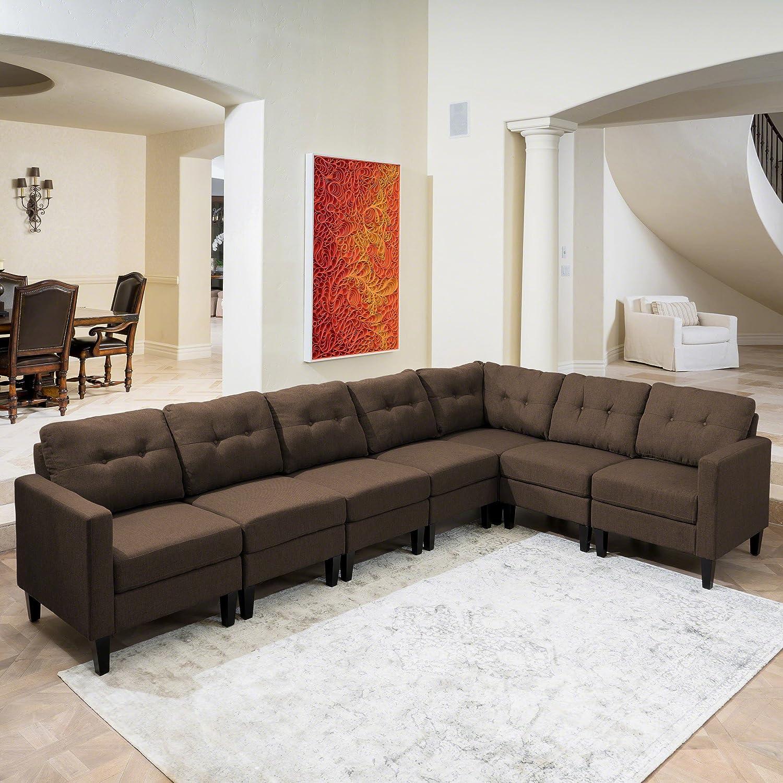Fabulous Amazon Com Emma Mid Century Modern 7 Piece Dark Brown Uwap Interior Chair Design Uwaporg