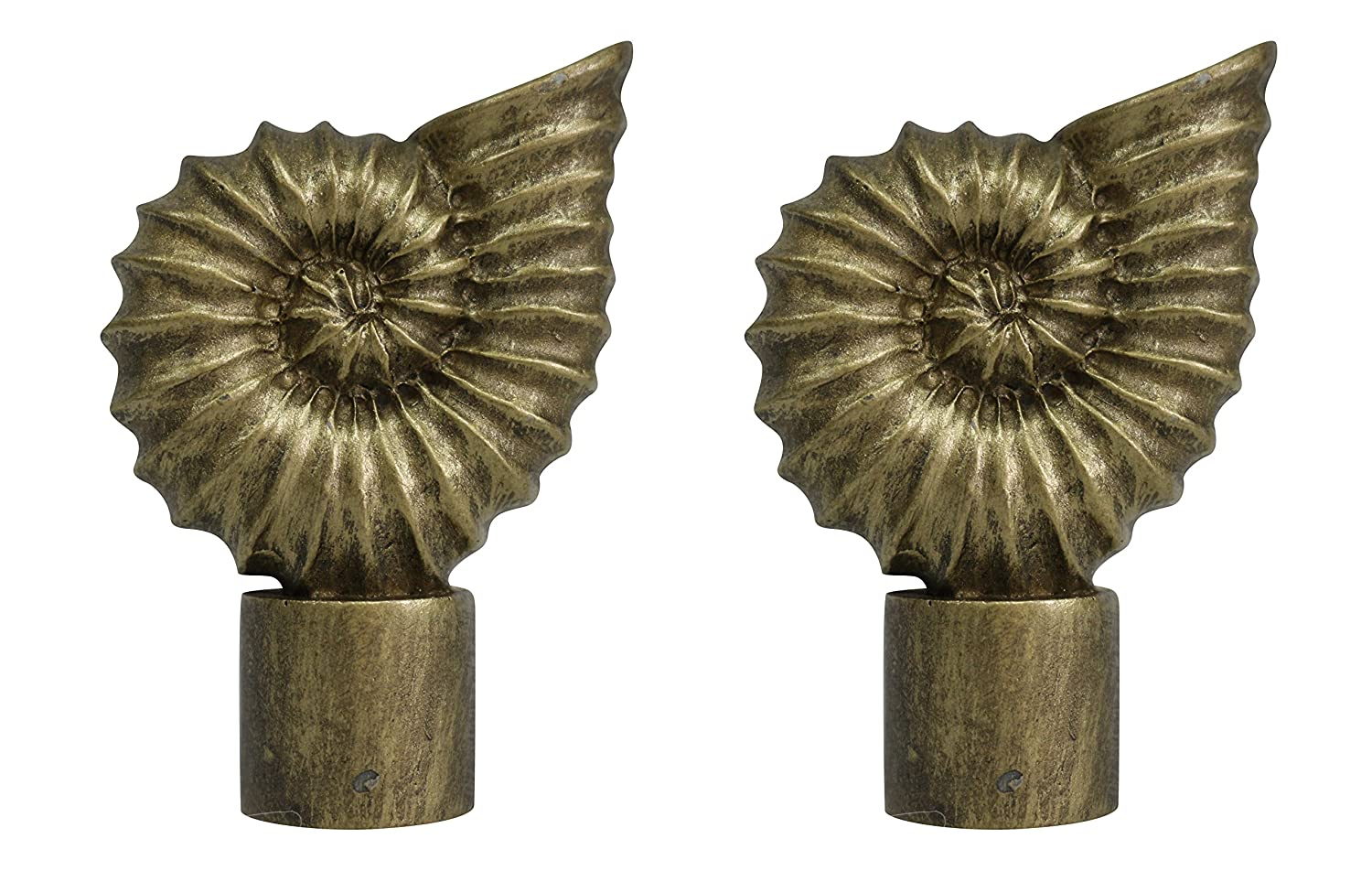 2 5//8-inch Tall Antique Gold Urbanest Seashell Finial