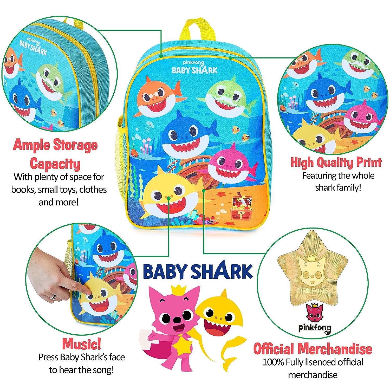 Piscina Creche Pinkfong Baby Shark Official Mochilas Escolares Juveniles Mochila Infantil Con Melod/ía Para Escola Mochila Musical Interactivo Ni/ño 3 4 5 A/ños Con La Canci/ón Baby Shark Guarder/ía
