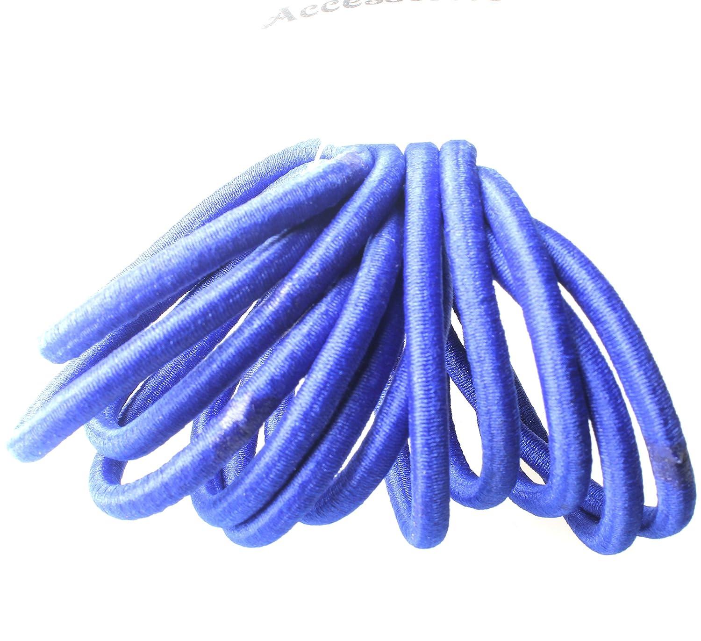 12 THICK SNAG FREE ENDLESS HAIR ELASTICS BOBBLES PONIOS