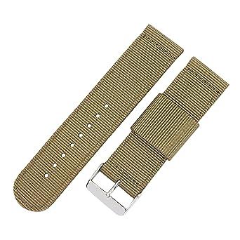 3631d3ff9ca3 20 mm bracelets en nylon style kaki délicat nato sangles ceinture montre de  remplacement rapide barre