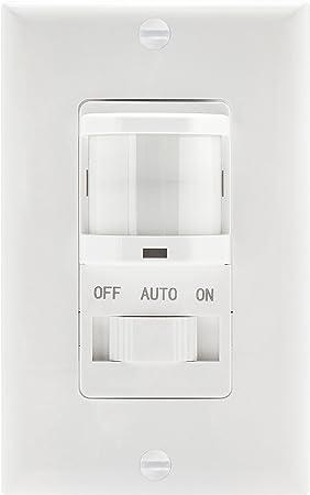 override light sensor wiring diagram topgreener tsos5 white in wall pir motion sensor light switch  wall pir motion sensor light switch