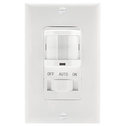 topgreener tsos5 white in wall pir motion sensor light switch rh amazon com 3-Way Occupancy Sensor Switch Self Calibrated Light Sensors