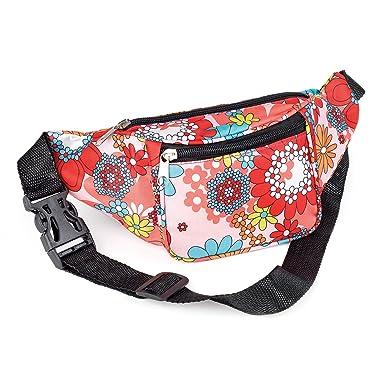 Bum Bag fanny Pack Festival Money Waist Pouch Travel Canvas Belt Grunge  Neon (Pink tone flower print)  Amazon.co.uk  Clothing 21ee725847