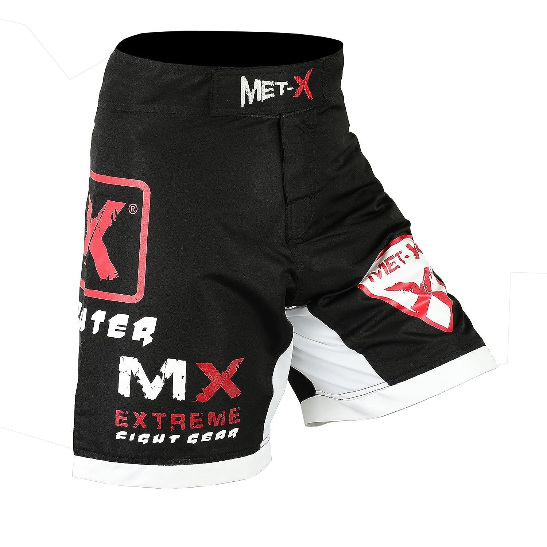 met-x MMA UFC Clothing Training Shorts Cage Fighting Grappling Martial Arts Muay Thai Kickboxing Black