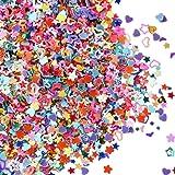 eBoot Confeti Brillante de Multi-formas Lentejuelas Coloridas para Manualidades, Arte de Uñas y Decoración, Multicolor, 100 Gramos