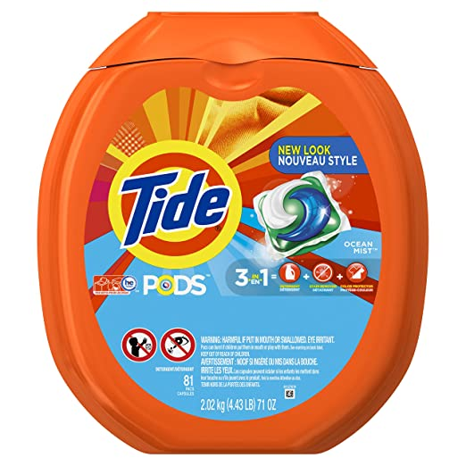Tide PODS Ocean Mist HE Turbo Laundry Detergent Pacs 81-load Tub
