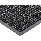 "Extra Large Heavy Duty Front Door Mat Outdoor Indoor Entrance Doormat Waterproof Low Profile Entrance Rug Patio Grass Snow Scraper Rubber Back - Durable and Easy to Clean (36"" x 60"", Grey)"