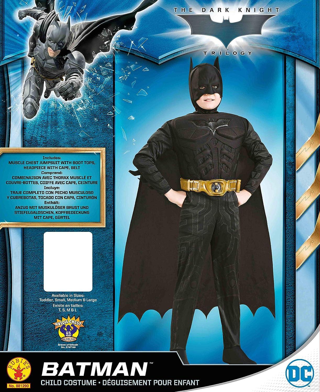 Rubies Dark Knight - Disfraz pana niño, talla S (3-4 años): Amazon ...