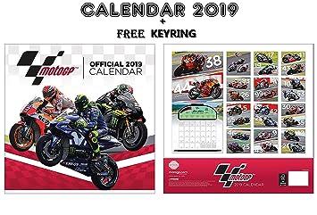 Moto Gp Calendario.Moto Gp Official Calendario 2019 Moto Gp Llavero Amazon