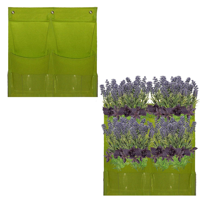 vertical hanging planter wall garden herb kit indoor. Black Bedroom Furniture Sets. Home Design Ideas
