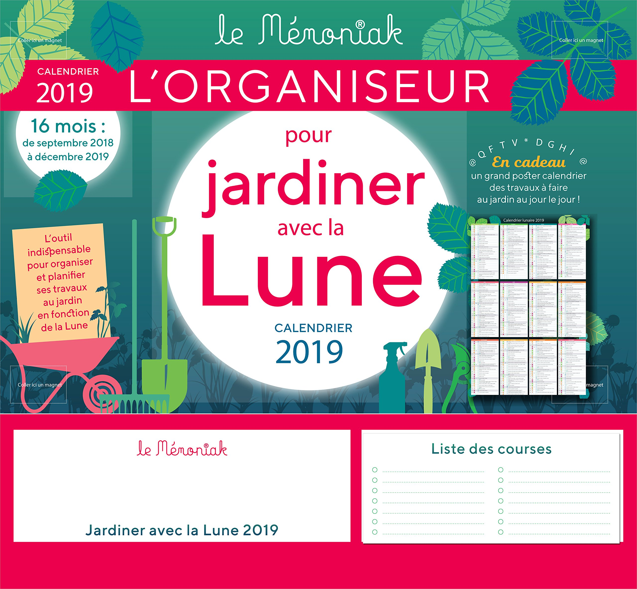 Calendrier Jardinage Lunaire 2019.Amazon Fr Organiseur Memoniak Pour Jardiner Avec La Lune