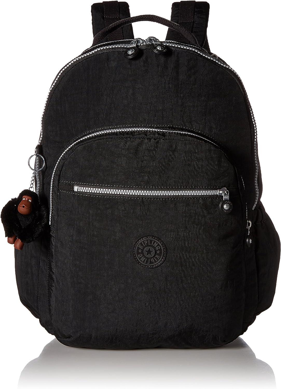 Kipling Women s Seoul GO XL Black Laptop Backpack, One Size