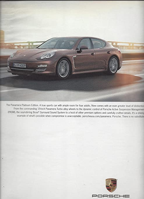 MAGAZINE ADVERTISEMENT For 2013 Porsche Panamera Platinum Edition Cars at Amazons Entertainment Collectibles Store