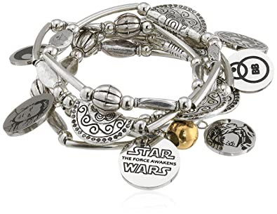 8accdfb9e5d55 Star Wars Jewelry Episode 7 Rey Stainless Steel Charm Stretch Bracelet  (SALES1SWMD)