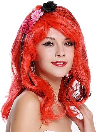 WIG ME UP ® - CXH-009 Peluca Mujer Carnaval Halloween Muy Lindo Longitud Media