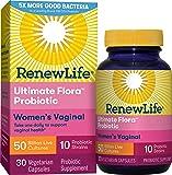 Renew Life Women's Probiotic - Ultimate Flora  Women's Vaginal Probiotic Supplement - Gluten, Dairy & Soy Free - 50 Billion CFU - 30 Vegetarian Capsules