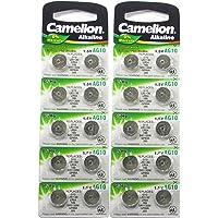 20 CAMELION AG10 / 189/389 / LR1130 Pile Bouton Longue durée de Conservation 0% de Mercure (Date d'expiration marqué)