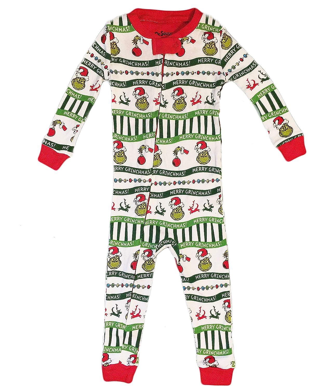 The Grinch Christmas Baby Boys Girls Toddler Sleeper Pajama