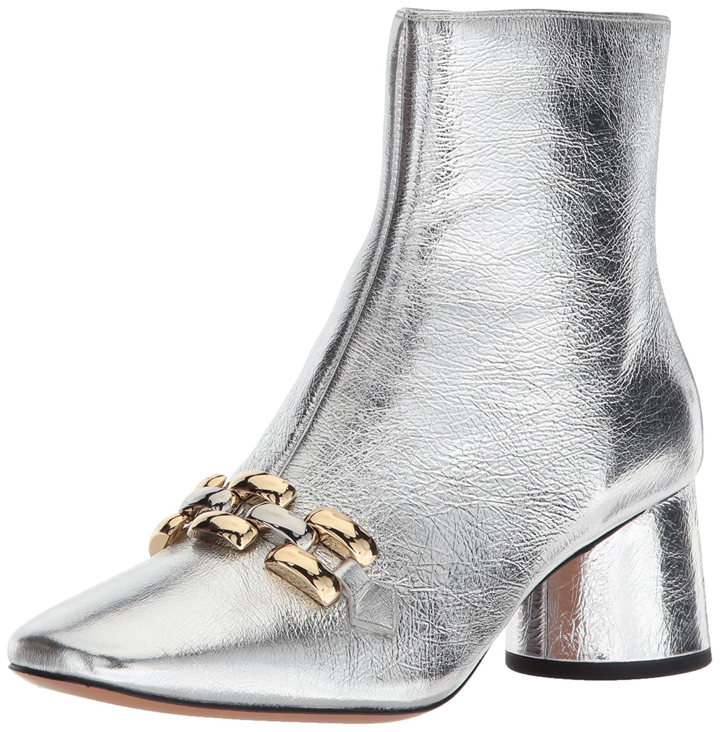 Marc Jacobs Women's Remi Chain Link Ankle Boot B072KLSS93 37 M EU (7 US)|Silver