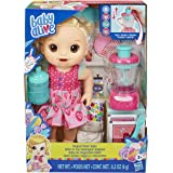 Baby Alive Magical Mixer Baby Doll Strawberry Shake with Blender Accessories, Drinks, Wets, Eats, Blonde Hair Toy for Kids Ag