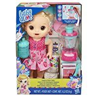 Baby Alive Magical Mixer Baby Doll Strawberry Shake with Blender Accessories, Drinks...