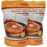 2 x Luxury Belgian Style Waffle Mix - Waffle Mixture for Belgian Waffles & Liege Waffles
