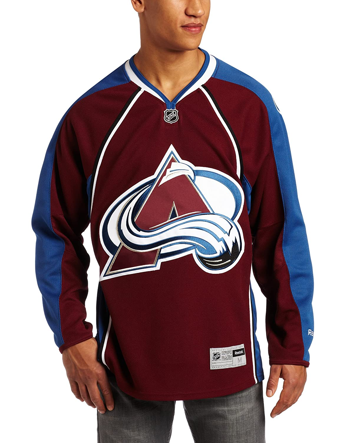 best service bc705 f83f9 Amazon.com : Reebok Colorado Avalanche Navy Alternate ...