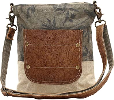 Amazon Com Myra Bags Leather Pocket Upcycled Canvas Shoulder Bag S 0945 Shoes Are you looking for a bag made from upcycled materials with a vintage look and feel? myra bags leather pocket upcycled canvas shoulder bag s 0945