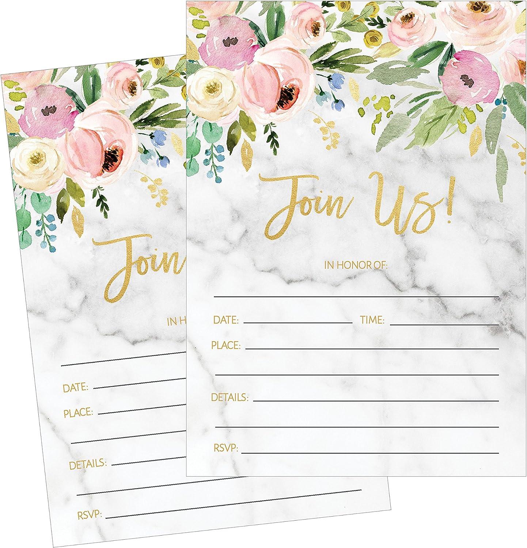 bridal shower decoration ideas homemade.htm amazon com 50 fill in invitations  wedding invitations  bridal  invitations  wedding invitations
