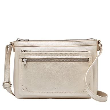 67ad12223 Amazon.com: Relic by Fossil Relic Evie EW Crossbody Bag Metallic: Clothing