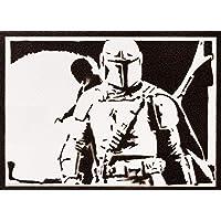 Poster El Mandaloriano STAR WARS Grafiti Hecho a Mano - Handmade Street Art - Artwork The Mandalorian