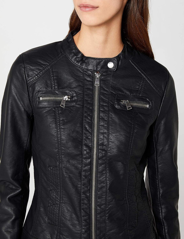 ONLY Damen Lederjacke Jacke BANDIT FAUX LEATHER BIKER black schwarz PU 15081400