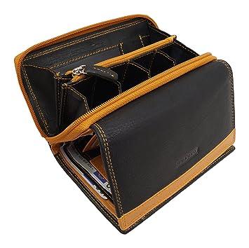 f3718b5b819cd1 Franko 381 Design Damen Geldbörse Geldbeutel Elegant Portmonee XXL  Portemonnaie aus weichem Leder Damenbörse Wallet