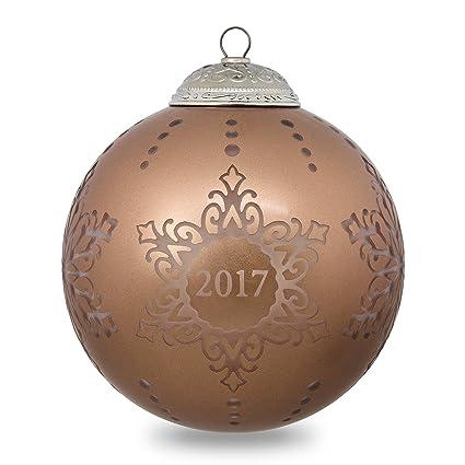Hallmark Keepsake 2017 Christmas Commemorative Glass Dated Christmas  Ornament - Amazon.com: Hallmark Keepsake 2017 Christmas Commemorative Glass