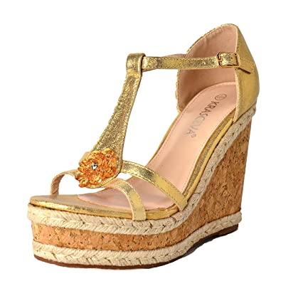 878ed75cce91 WeHeartShoes Ladies Platform Ankle Strap Wedges Open Toe Sandals Cork High  Heel Shoe Size 3-