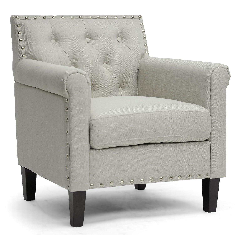 amazoncom  baxton studio thalassa linen modern arm chair beige  - amazoncom  baxton studio thalassa linen modern arm chair beige  chairs