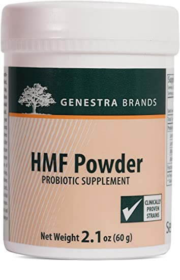Genestra Brands - HMF Powder - (Refrigerated, Shipped Cold) - Four Strains of Probiotics to Promote GI Health* - 2.1 oz (60 g)