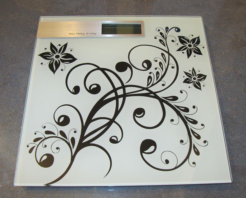 Báscula digital de 180 kg/50 G flores-design horizontal