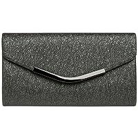 CASPAR TA370 Sac à main clutch enveloppe élégant pour femme - Pochette de soirée avec longue chaînette